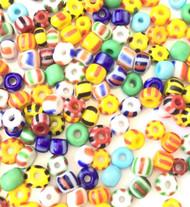 6/0 Czech Seed Beads Opaque Mix round Glass beads 30 grams