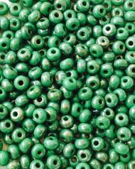 6/0 Green Preciosa round Czech Seed Beads Glass loose beads 22 grams