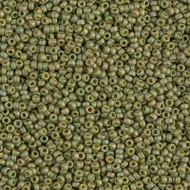 15/0 Japanese Miyuki Matte Opaque Light Olive Seed Beads