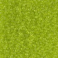 15/0 Japanese Miyuki Transparent Chartreuse Seed Beads