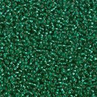 15/0 Japanese Miyuki Silver lined Emerald Seed Beads