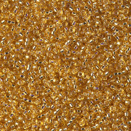 15/0 Japanese Miyuki Silverlined Dark Gold Seed Beads