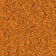 15/0 Japanese Miyuki Silverlined Orange Seed Beads