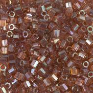 8/0 Japanese Miyuki Delica Seed Beads Hex Light Brown AB