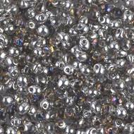 Japanese Miyuki 3.4mm Drop Crystal/Heliotrope Glass Beads 15 Grams