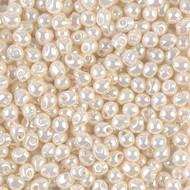 Japanese Miyuki 3.4mm Drop Cream Ceylon Glass Beads 15 Grams