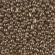 Japanese Peanut Metallic Bronze Seed beads 3X6mm