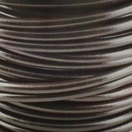 1 yard Genuine Round Leather Cord Dark Brown 1.5mm