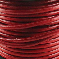 1 yard Genuine Round Leather Cord Red 1.5mm