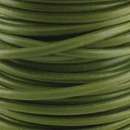 1 yard Genuine Round Leather Cord Pistachio 1.5mm
