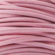 1 yard Genuine Round Leather Cord Lt. Pink 1.5mm