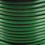1 yard Genuine Round Leather Cord Green 1.5mm