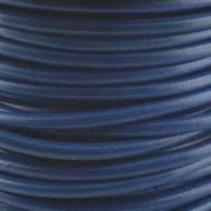 1 yard Genuine Round Leather Cord Dark Blue 1.5mm