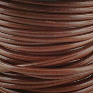 1 yard Genuine Round Leather Cord Cognac 1.5mm