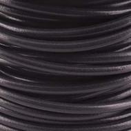 1 yard  Genuine Round Leather Cord Black 1.5mm