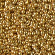 Japanese Miyuki Duracoat Galvanized Gold Peanut 3x6mm Beads