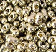 Japanese Duracoat Gal Silver Peanut 3x6mm beads