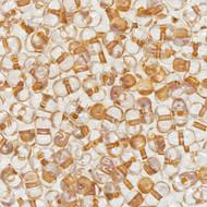 Japanese Miyuki Peanut Rose Gold lined Crystal Seed beads 3X6mm