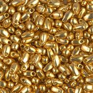 Miyuki Long Drop 3x5.5mm Duracoat Galvanized Gold Beads 15 Gram