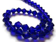 Chinese Crystal Dark Blue Bicone Rondelle 7mm