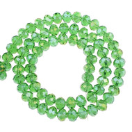 Chinese Crystal/Pearl Green Rondelle 8mm