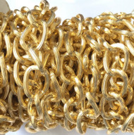 Nontarnish Gold Plated cable Chain Oval unsoldered Large links-20x14mm
