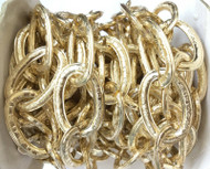 Nontarnish Gold Plated cable Chain Oval unsoldered Large links-34x23mm