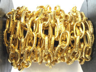 13x8mm Gold Plated cable Oval Love Chain unsoldered links-Jewelry supply