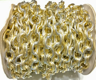 2 tone Gold and Silver curb Chain unsoldered links- Beading Supplies