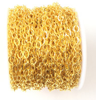 Fancy Gold Plated oval cable Chain unsoldered links