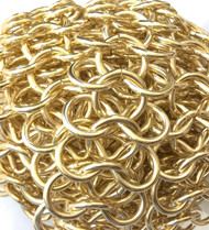 Nontarnish Light weight Gold round Chain Mail links- Beading Supplies
