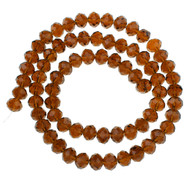Chinese Crystal Mocca Chocolate Brown Rondelle 8mm