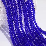 Chinese Crystal Dark Blue Round Rondelle 10mm