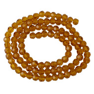 Chinese Crystal Yellow Brown Round Rondelle 10mm