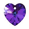 14mm Authentic Genuine Czech Preciosa Crystal Heart Heliotrope