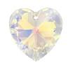 14mm Authentic Genuine Czech Preciosa Crystal Heart Clear