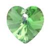 14mm Authentic Genuine Czech Preciosa Crystal Heart Peridot
