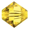 8mm Authentic Genuine Czech Preciosa Crystal Bicone Citrine Beads