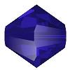 4mm Czech Preciosa Crystal Bicone Majestic Blue 72 beads