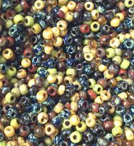 6/0 Japanese Wheatberry Picasso Mix Miyuki Glass seed Beads-20Grams