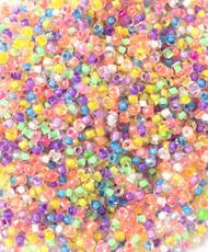 11/0 Miyuki Japanese Rainbow Transparent mix Glass seed Beads