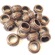 30 PCS 4mm Hole Copper Rondelle Spacer Beads