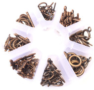 350 Copper Toggle Clasps Assorted Jewelry Supplies