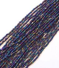 13/0 Charlotte Cut Preciosa Czech Met Purple Iris Glass Seed Beads hank