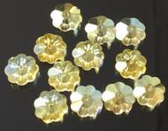 12mm Flower Margarita Citrine Swarovski Crystal Beads