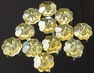 8mm Flower Margarita Citrine Swarovski Crystal Beads