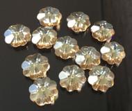 8mm Flower Margarita Topaz Swarovski Crystal Beads