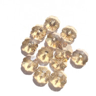 7mm  Swarovski Margarita Light Gold Crystal Flower Beads