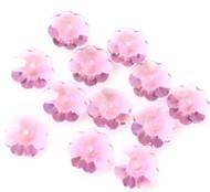 12mm  Swarvoski Margarita Amethyst Crystal Flower Beads