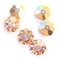 9mm Flower Margarita Bright Fiery Orange Swarovski Crystal Beads